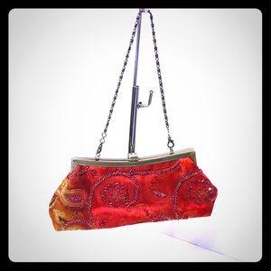 Vintage beaded showstopper clutch handbag